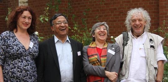 Teaching Right Livelihood (v.l.): Monika Griefahn, Dipa Barua, Sima Samar und Raul Montenegro.