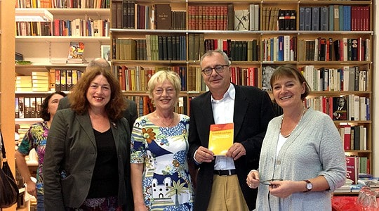 (v.l.) Monika Griefahn, Edda Rydzy, Klaus-Jürgen Scherer und Karin Seidel