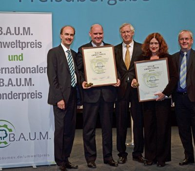 Monika Griefahn erhält den B.A.U.M.-Umweltpreis 2014
