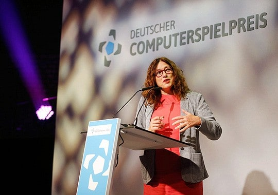 "Monika Griefahn in 2015 at the award ceremony of the German ""Computerspielpreis"".Photo (archives): Franziska Krug/Getty Images for Quinke Networks"