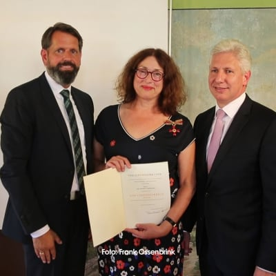 Monika Griefahn receives the Federal Order of Merit