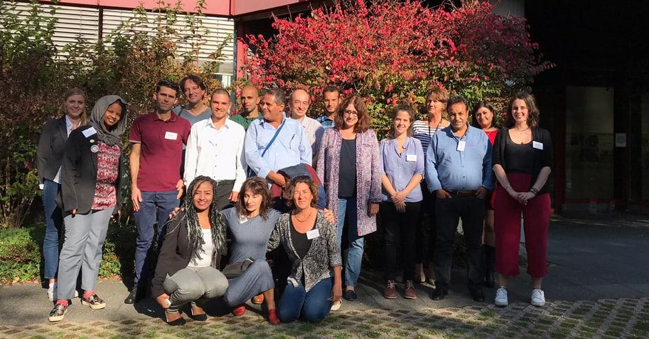 """Gruppenbild der Teilnehmerinnen und Teilnehmer von """"Change at next stop"""""""