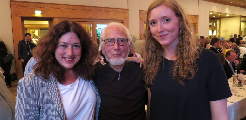 Monika and Nora Griefahn together with Erhard Eppler