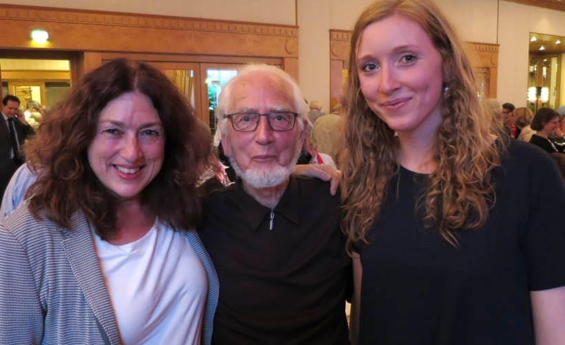 Monika and Nora Griefahn together with Erhard Eppler