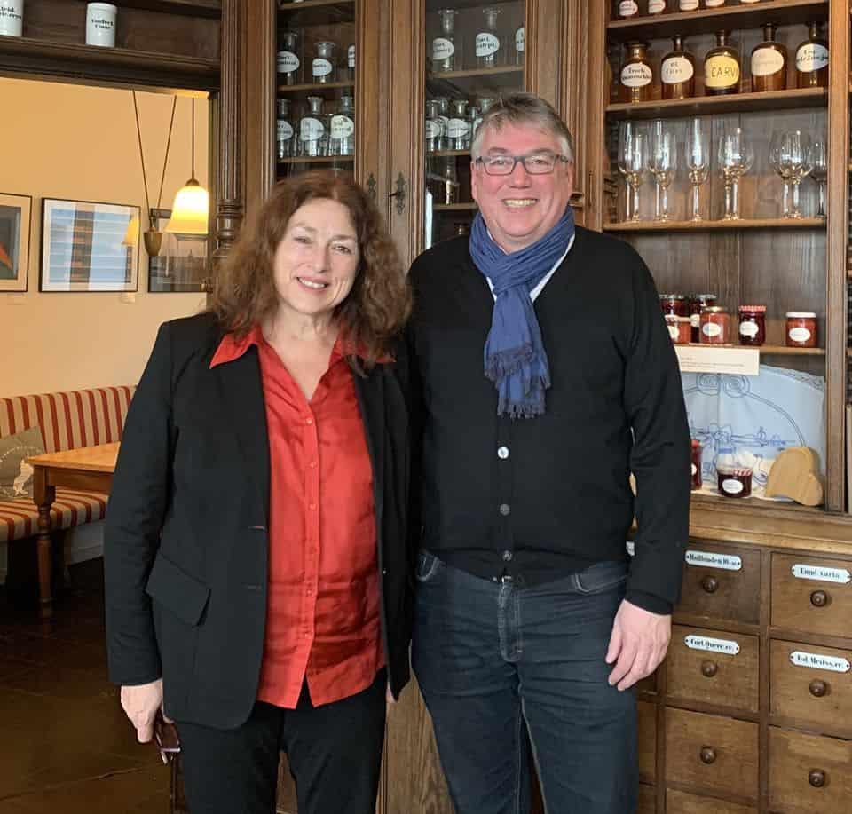 Monika Griefahn und Hans-Peter Winkelmann vom KlimaQuartier Broich