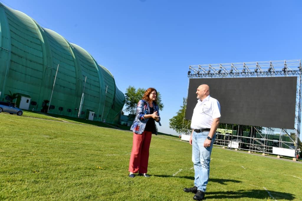 Monika Griefahn und Christian Beineke von der WDL