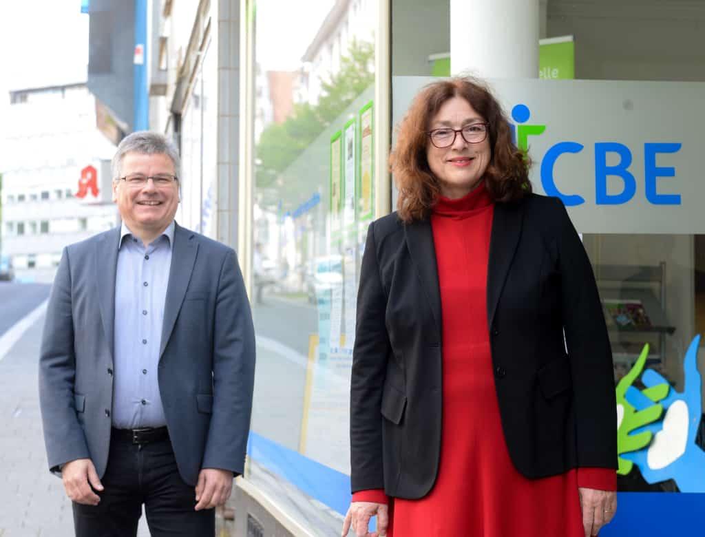 Monika Griefahn und Michael Schüring, Geschäftsführer des Centrums für bürgerliches Engagement (CBE) in Mülheim an der Ruhr