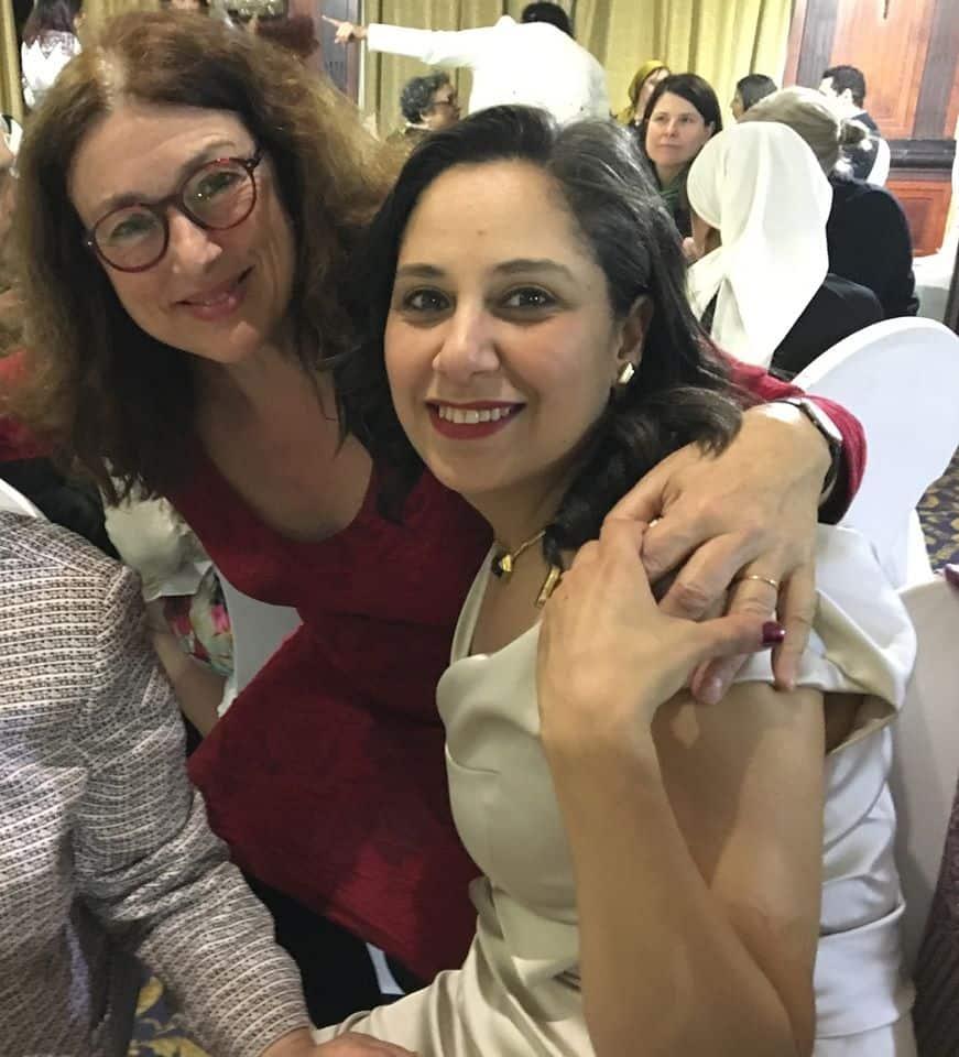 Monika Griefahn und die Frauenrechtlerin Mozn Hassan