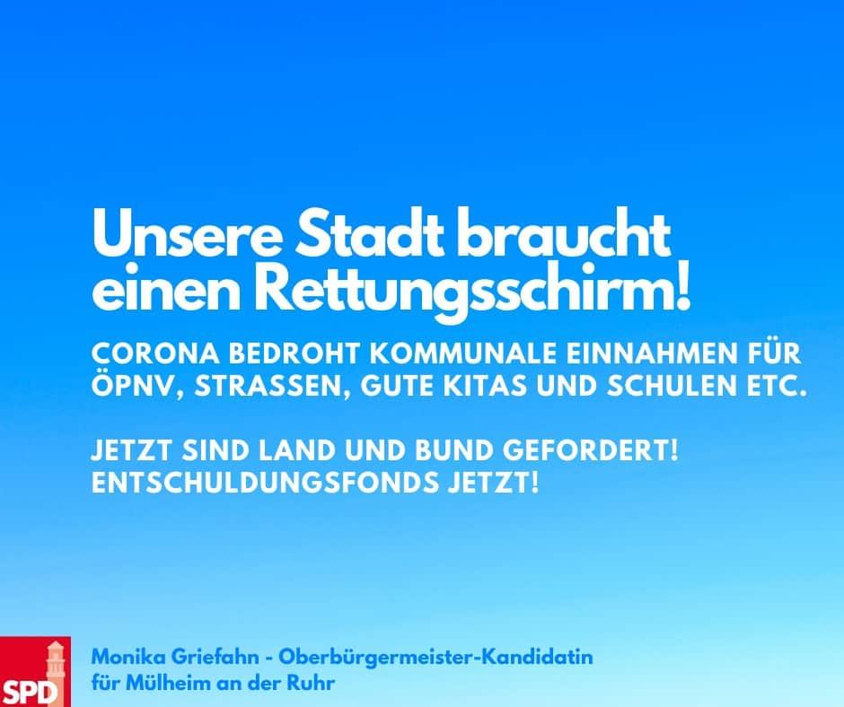 Mülheim an der Ruhr: Unsere Stadt braucht einen Rettungsschirm!