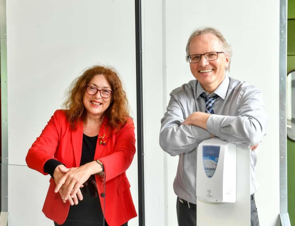 Monika Griefahn und Michael Lübke von RRG Industrietechnik