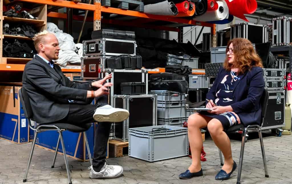 Monika Griefahn mit Dennis Weiler, Agentur Eventall GmbH