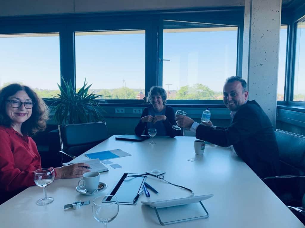 Monika Griefahn, Professor Dr. Susanne Staude und Professor Dr. Oliver Koch (Hochschule Ruhr West)