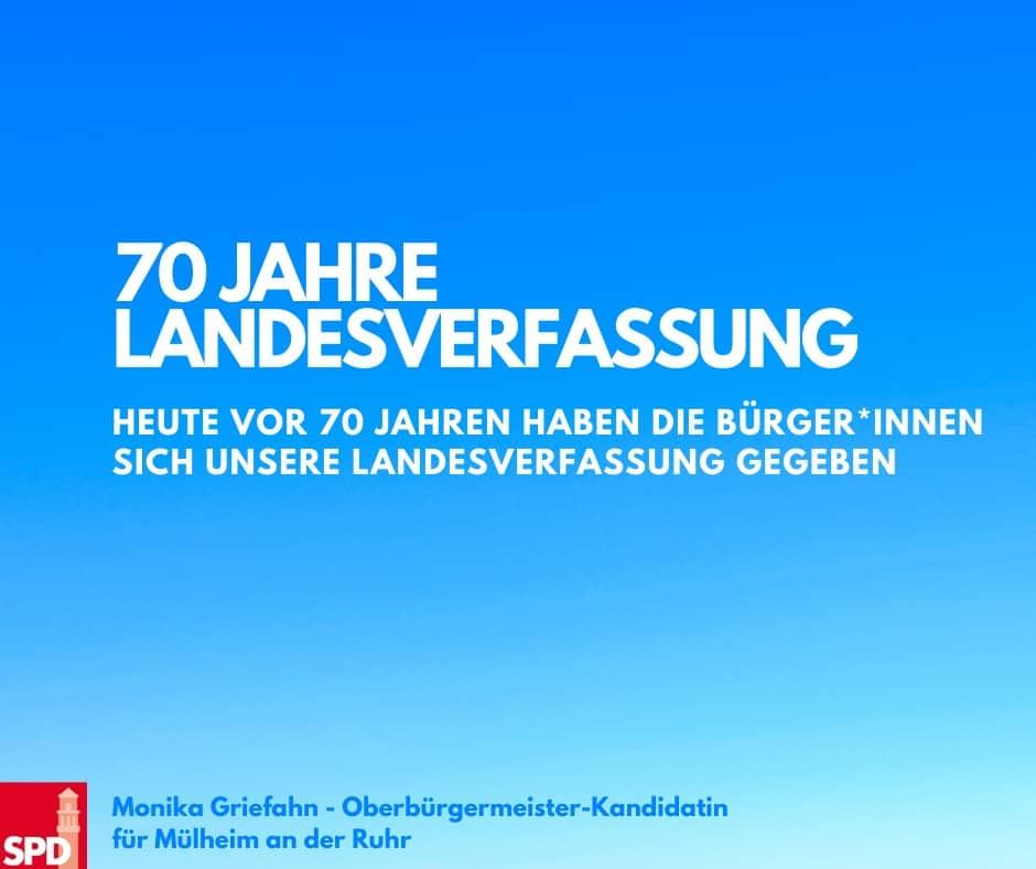 70 Jahre Landesverfassung NRW