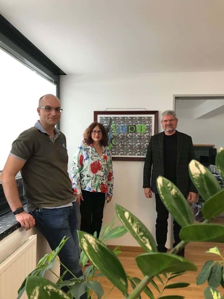 Monika Griefahn mit Professor Doktor Robert Schlögl, Gründungsdirektor des 2011 gegründeten Max-Planck-Instituts für Chemische Energiekonversion (MPI CEC) in Mülheim an der Ruhr