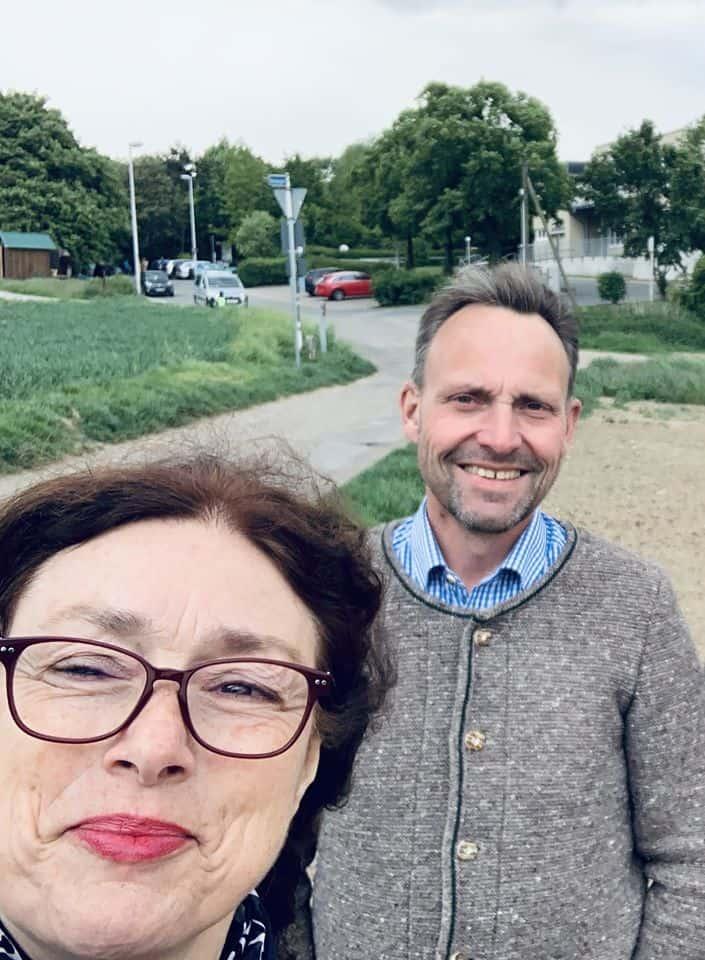 Monika Griefahn unterwegs mit Mülheimer Landwirten: Hermann Terjung