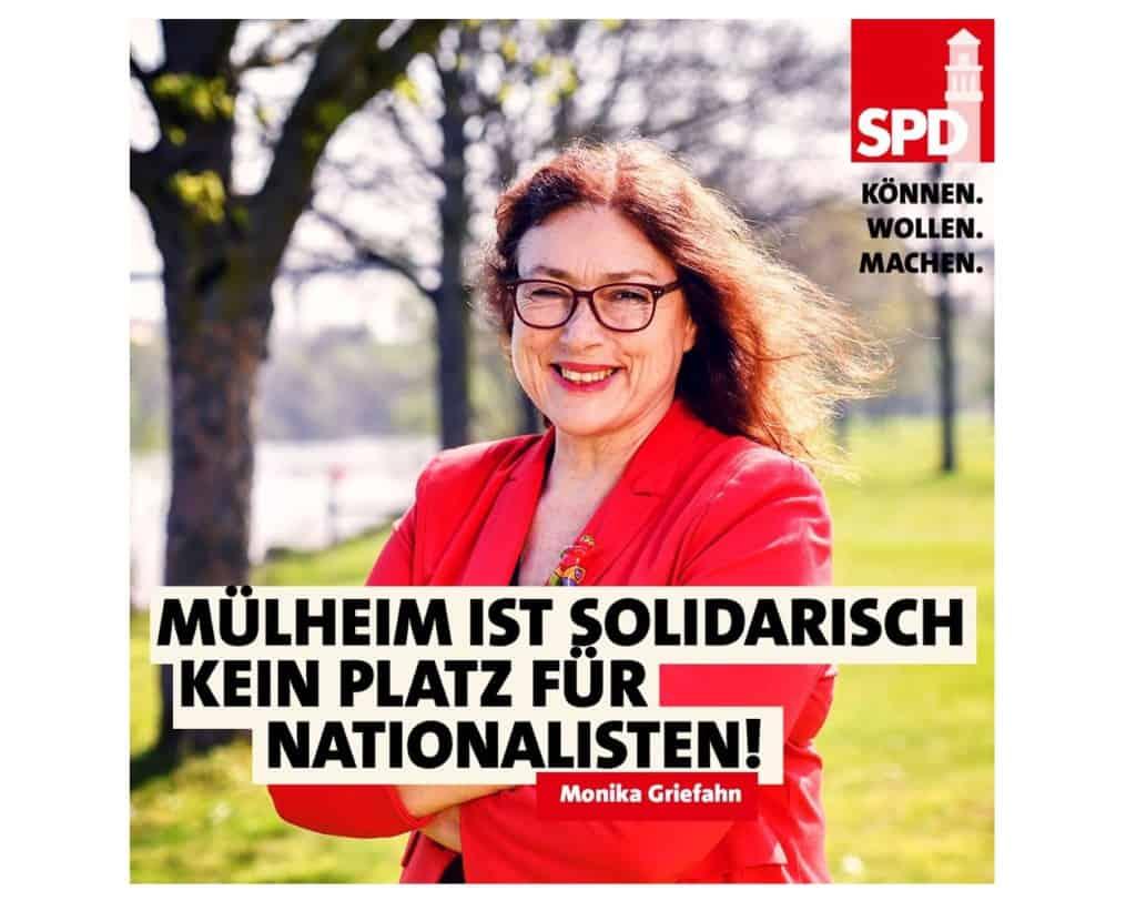 Mülheim ist solidarisch! Kein Platz für Nationalisten! | Monika Griefahn