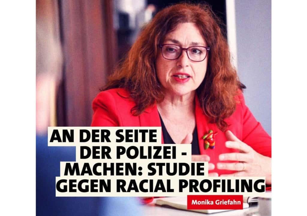 An der Seite der Polizei: Machen: Studie gegen Racial Profiling | Monika Griefahn