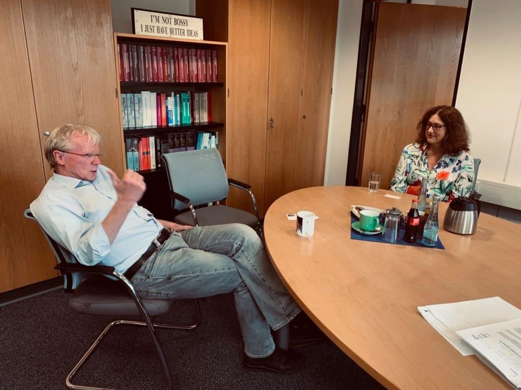 Prof. Dr. Ferdi Schüth und Monika Griefahn