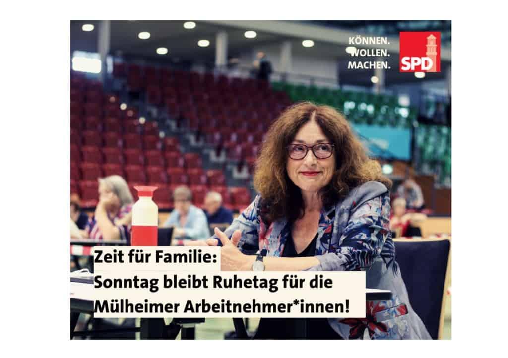 Zeit für Familie: Sonntag bleibt Ruhetag für die Mülheimer Arbeitnehmer*innen! | Monika Griefahn