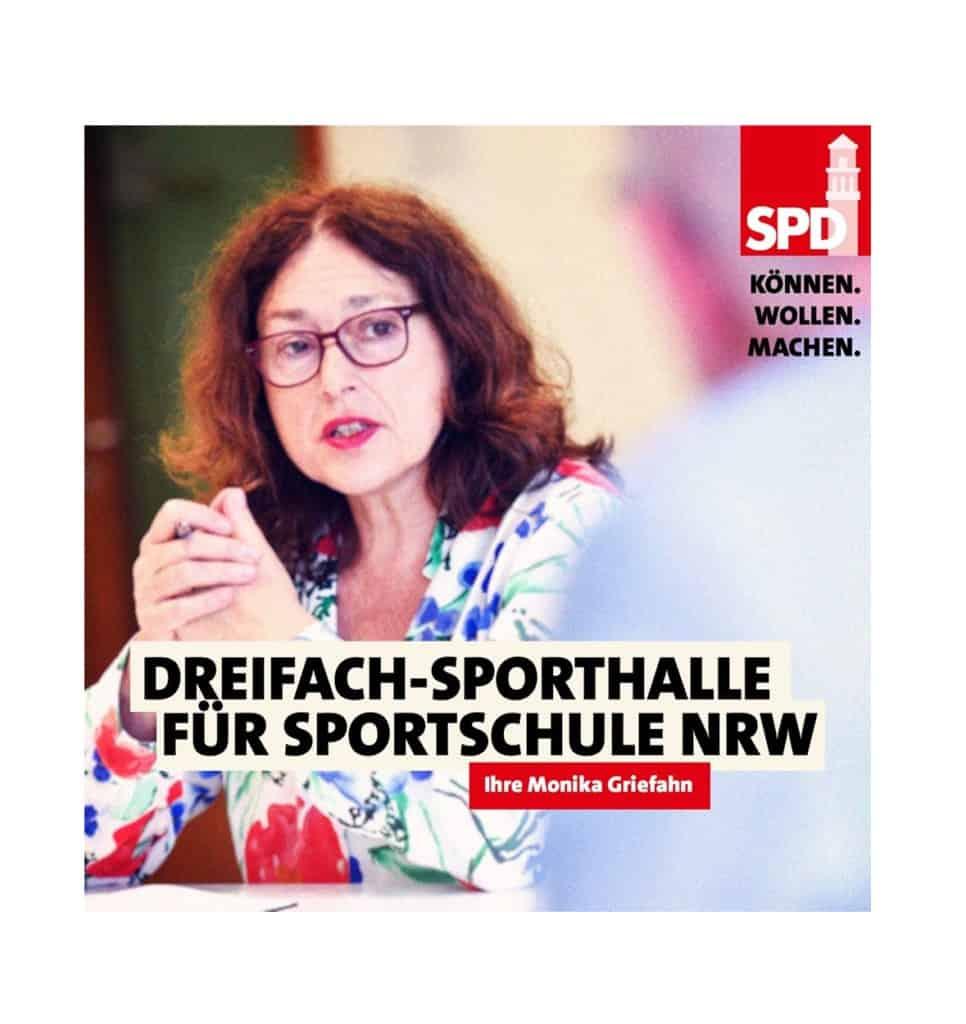 Dreifach-Sporthalle für Sportschule NRW | Monika Griefahn