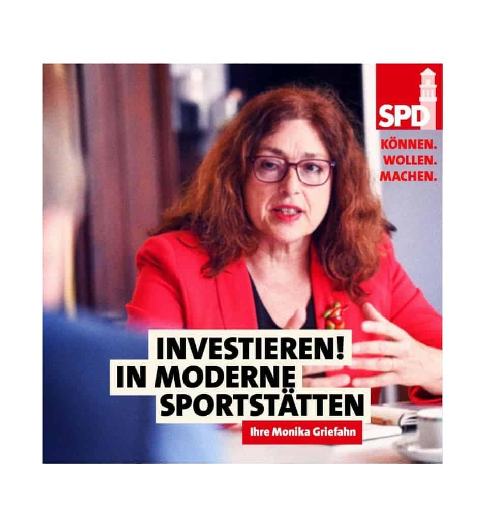 Investieren in moderne Sportstätten! | Monika Griefahn