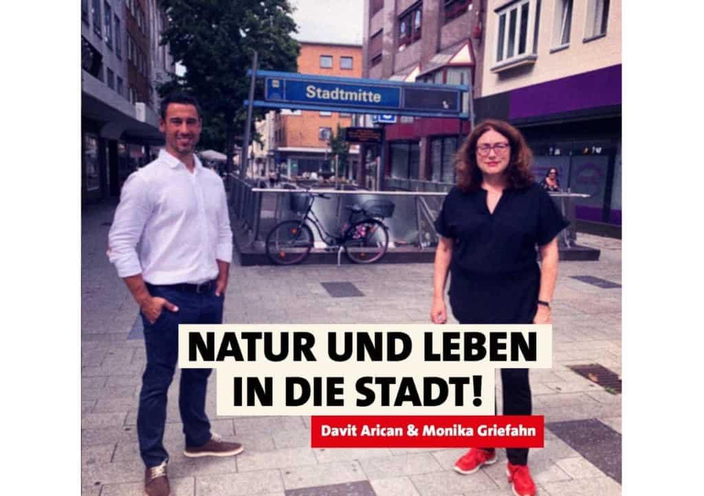 Natur und Leben in die Stadt! Monika Griefahn und Davit Arican