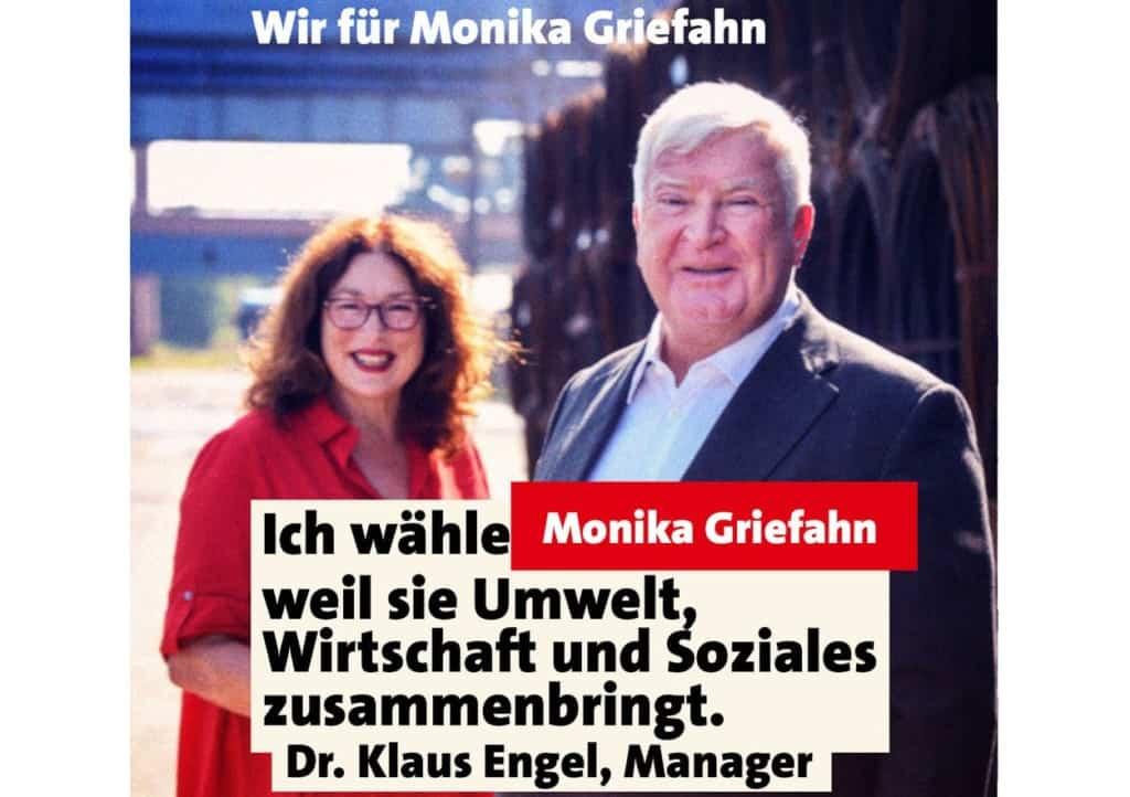 Unterstützung für Monika Griefahn von Dr. Klaus Engel, Manager