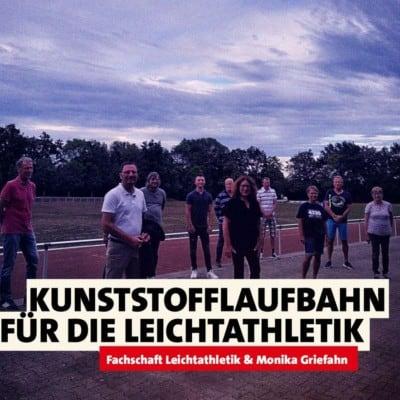 Kunststofflaufbahn für Mülheim!
