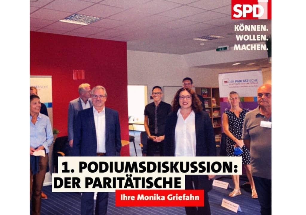 1. Podiumsdiskussion: Der Paritätische | Monika Griefahn