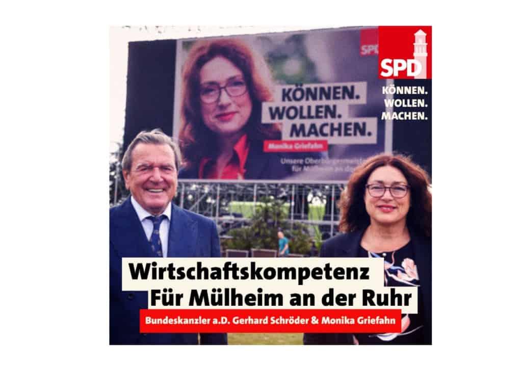 Bundeskanzler a.D. Gerhard Schröder & Monika Griefahn: Wirtschaftskompetenze für Mülheim an der Ruhr