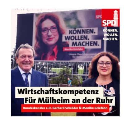 Altkanzler Schröder unterstützt Monika Griefahn