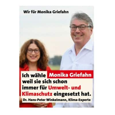 Klimaexperte Dr. Winkelmann unterstützt Monika Griefahn!