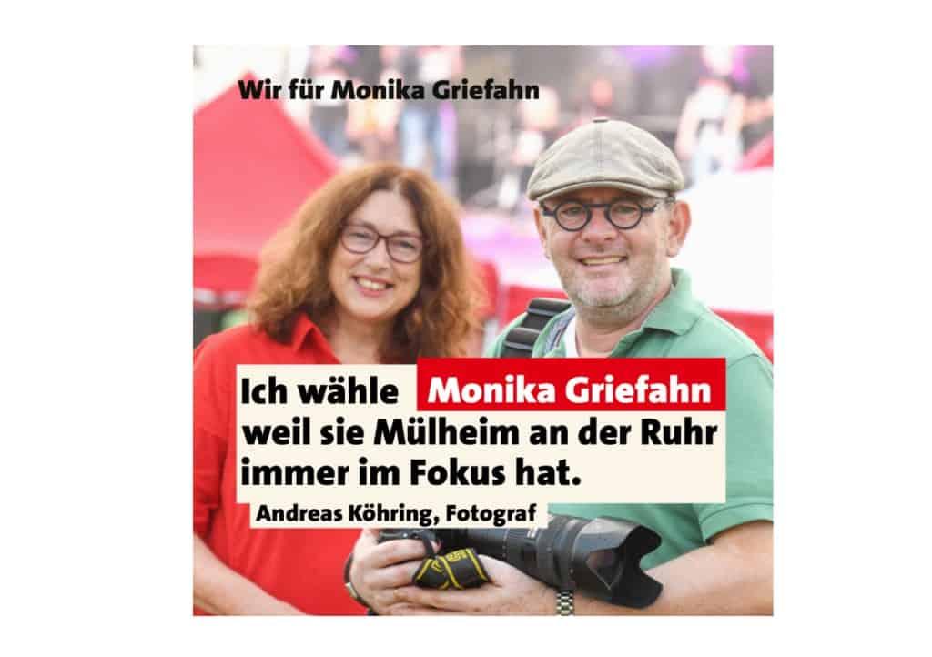 Andreas Köhring, Fotograf: Ich wähle Monika Griefahn, weil sie Mülheim an der Ruhr immer im Fokus hat.