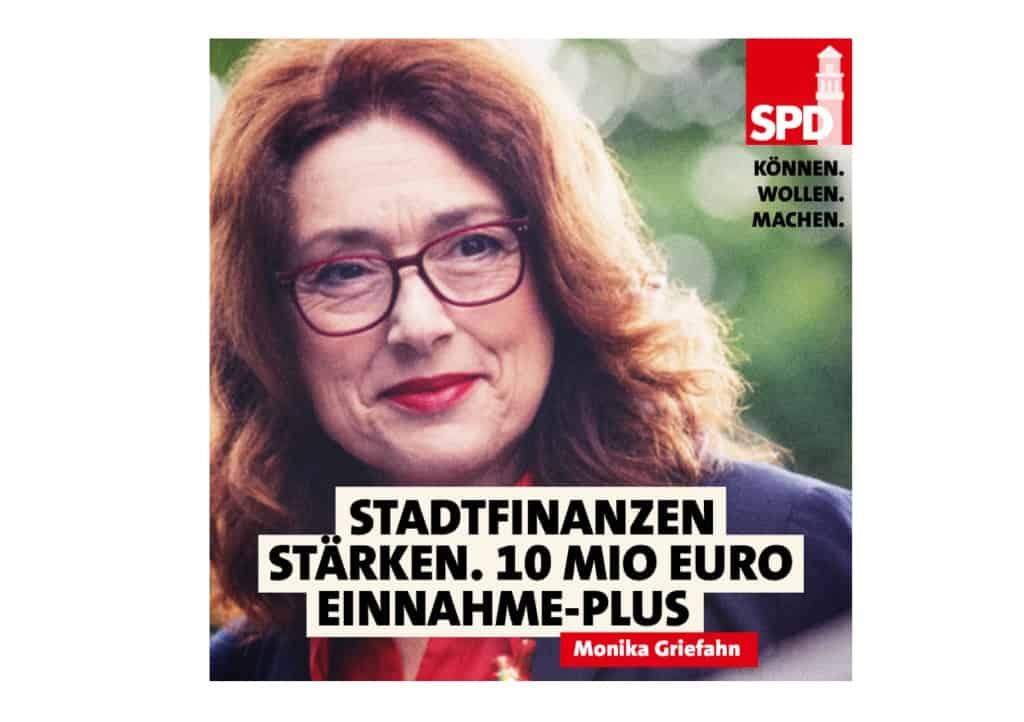 Stadtfinanzen stärken. 10 Mio Euro Einnahme-Plus