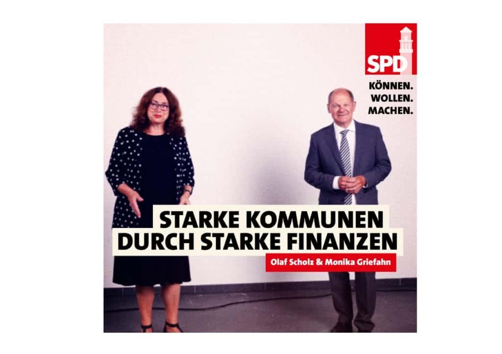 Starke Kommunen durch starke Finanzen! Olaf Scholz und Monika Griefahn