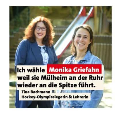 Olympiasiegerin Tina Bachmann unterstützt Monika Griefahn