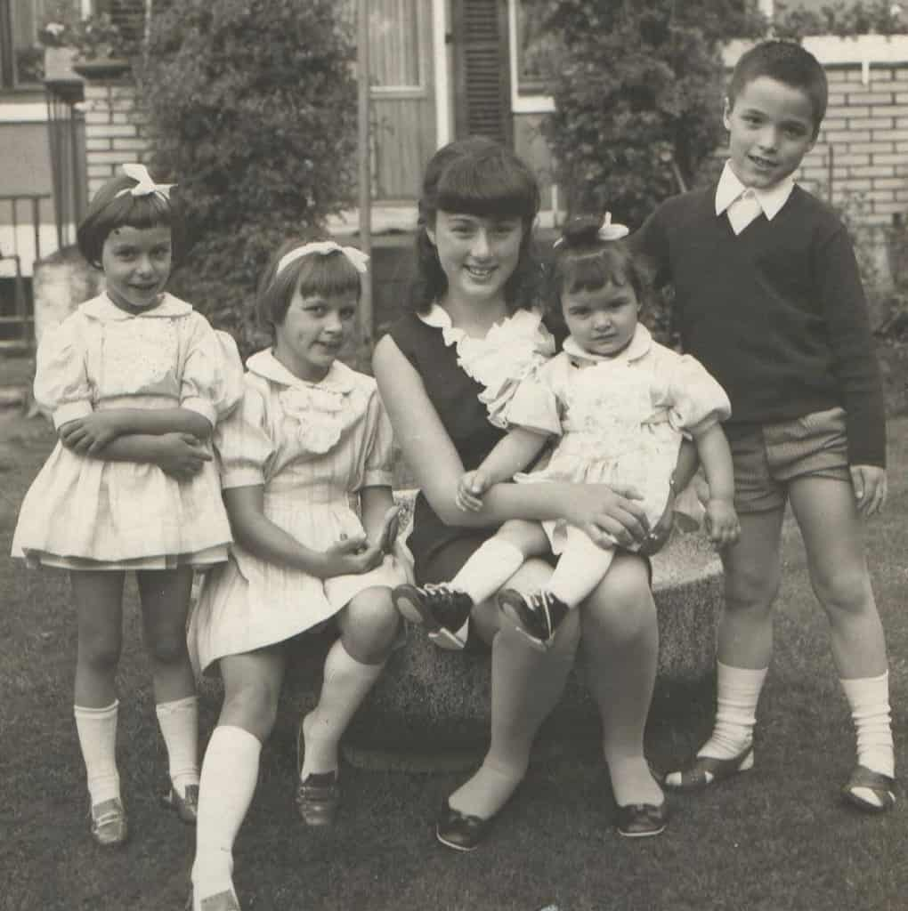 Monika Griefahn Jugendbild mit Geschwistern