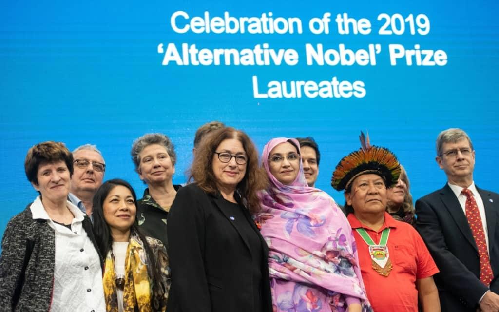 Verleihung Alternativer Nobelpreis 2019 | Monika Griefahn mit PreisträgerInnen
