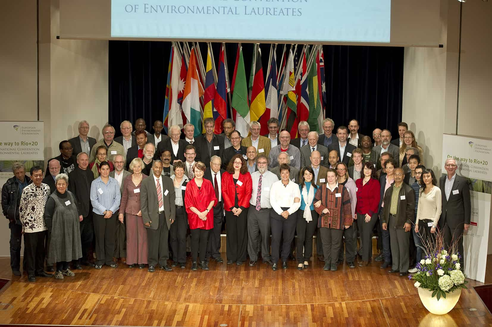 2012: Group photograph at the European Environment Foundation's congress in Freiburg.