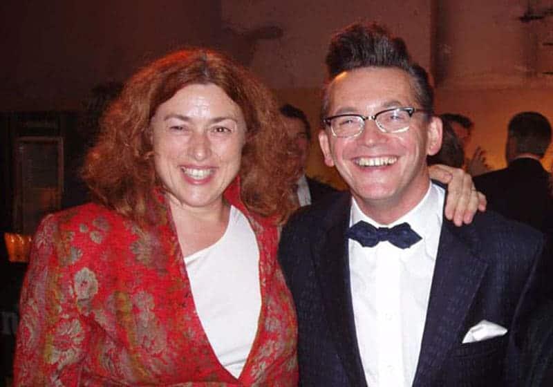 2004: Monika Griefahn mit Musiker und Multitalent Götz Alsmann.