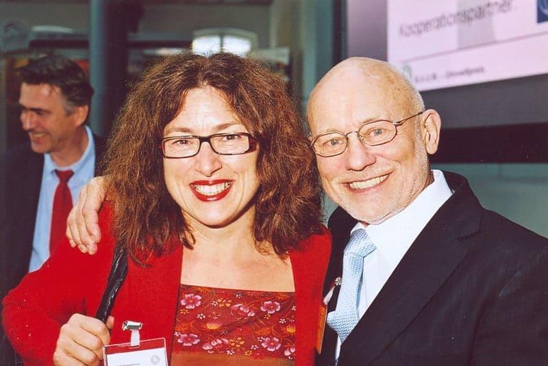 2007: Monika Griefahn mit Sir Vival, dem Überlebenskünstler Rüdiger Nehberg.
