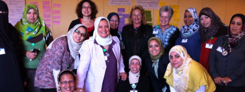 We supported political education for Egyptian women in Cairo.