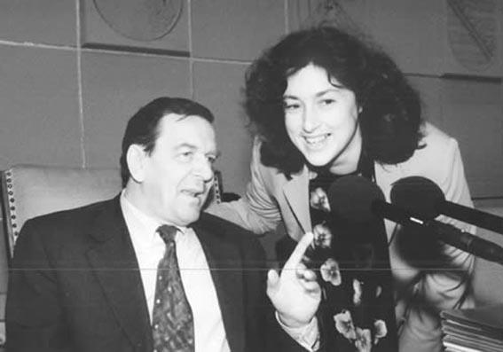 Monika Griefahn und Gerhard Schröder