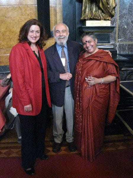 "2008: Monika Griefahn in company of two laureates of the ""Alternative Nobel Prize""."