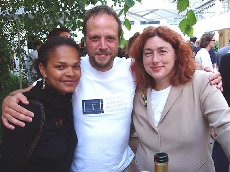 2005: Monika Griefahn mit dem Musiker Smudo.