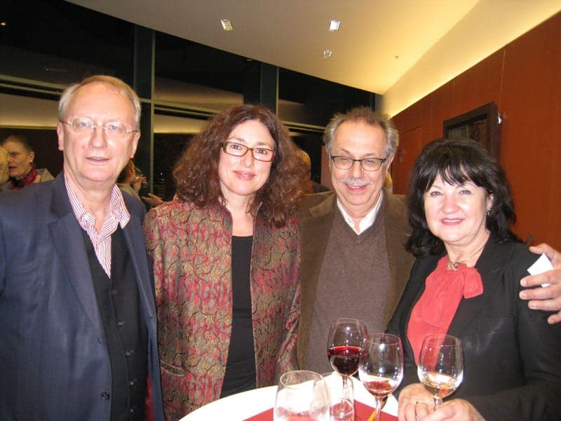 2009: Monika Griefahn in the middle of artist Klaus Staeck and Jürgen Kosslik (r.), head of the Berlin film festival.