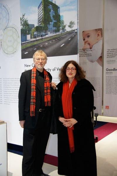 2011: Monika Griefahn mit dem Gründer des Alternativen Nobelpreises Jakob von Uexküll.
