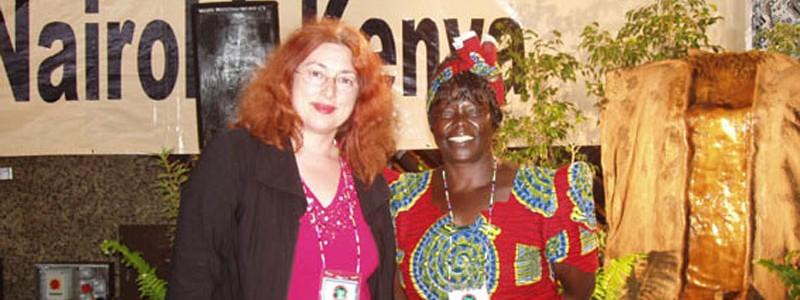 Monika Griefahn and Wangari Mathaai